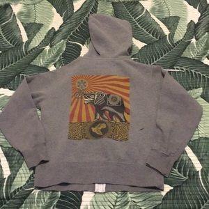 Obey women's small zip up hoodie